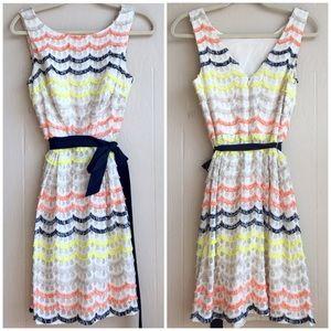 Trina Turk Scallop Fringe Lace Heights Dress